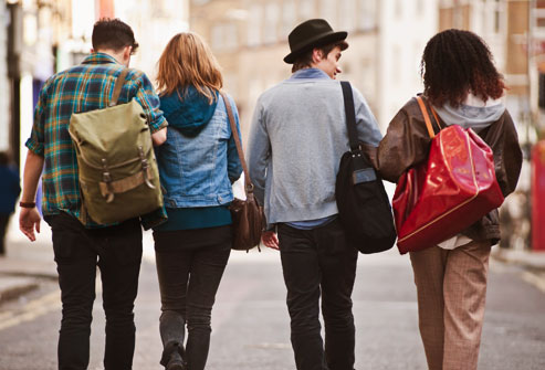 Image result for college kids with backpacks